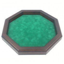 Piste de dés octogonale en bois 35 cm