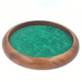 Piste de dés ronde en bois 35 cm