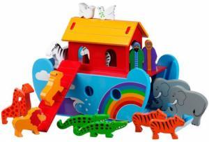 Petit arche multicolore en bois