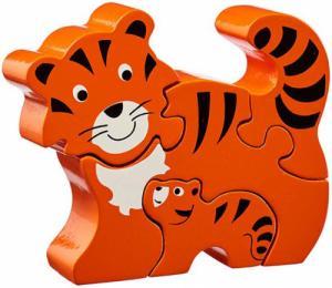 Puzzle en bois Tigre et son bébé