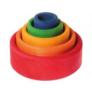 Bols de construction multicolore
