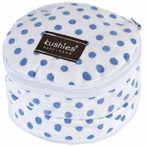 Pochette pour Coussinets d'allaitement Blanc Pois Bleu