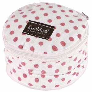 Pochette pour Coussinets d'allaitement Blanc Pois Rose