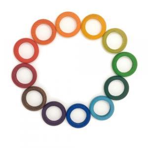 Jouets libres 12 anneaux multicolores