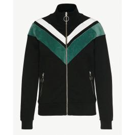 Esmee V-Stripes Black Off White Mallard Green