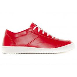 Sneakers basses 902 rouge en cuir Made in France -