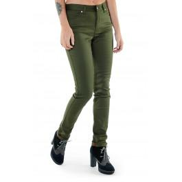 Jeans 254 slim taille haute vert kaki Made in France en coton bio -