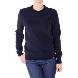 pull 18 femme volontaire bleu en fibres recyclées made in France -