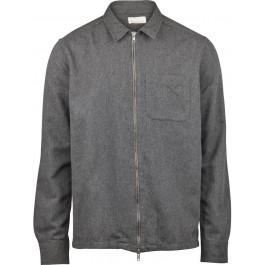 Flannel Overshirt Dark Grey Melange