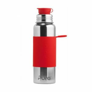 Gourde rouge en inox isotherme 650ml