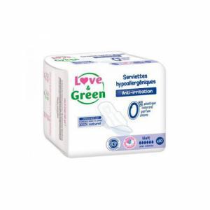 Love - Green - 10 Serviettes Nuit