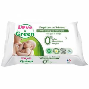 Love - Green Lingettes au liniment