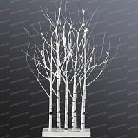 Bosquet de bouleaux lumineux LED blanc chaud Haut. 90cm