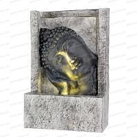 Fontaine extérieure lumineuse Bouddha - Tête penchée