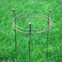 Tuteur rond 2 anneaux Pivoines et dahlias - Haut. 64cm