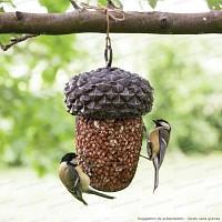Mangeoire pour oiseaux à suspendre - Gland Haut. 22cm
