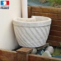 Pot de fleurs cache gouttière en pierre reconstituée - Diam. 51cm