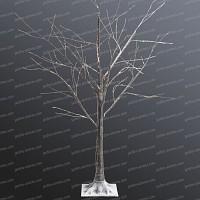 Arbre lumineux bouleau marron LEDs blanc