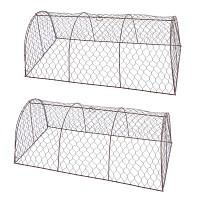 Tunnel de protection en grillage à poule - Petit modèle 80cm - Lot de 2