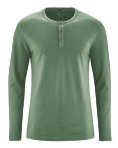 T-shirt épais avec patte de boutonnage