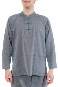 Chemise col mao homme gris chine Louis