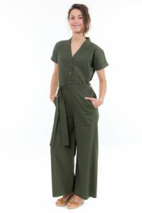 Combinaison pantalon femme saharienne kaki