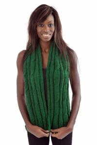 Echarpe pure laine douce vert kaki