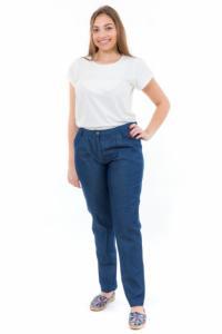 Pantalon jean coupe carotte femme