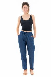 Pantalon jean denim sans fermeture