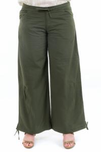 Pantalon large classique femme homme kaki