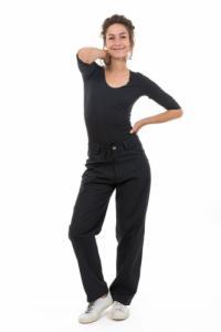 Pantalon noir mixte chic Zeox