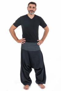 Pantalon sarouel bali noir rayures noires