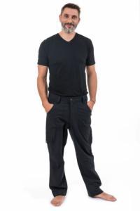 Pantalon sarouel grande taille noir