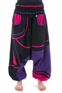 Saroual femme elastique grande taille Neon