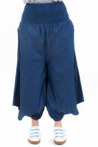 Sarouel jupe culotte blue jean denim