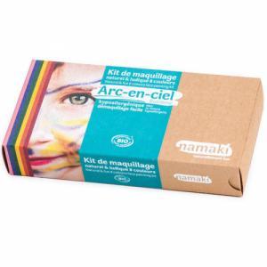 Kit de maquillage bio Enfant - Arc-en-Ciel - 8 couleurs