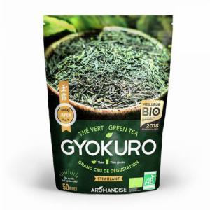 Thé Vert Gyokuro bio - Stimulant - Sachet vrac 50g