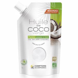 Huile de coco vierge bio - Doypack 1 litre