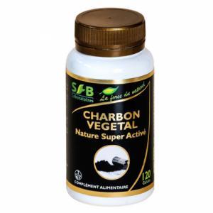 Charbon végétal Super activé Nature 190mg - 120 gélules