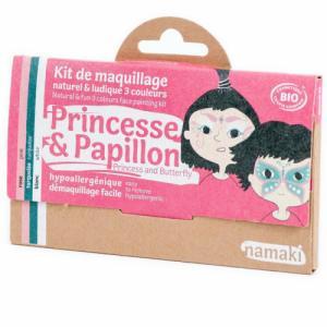 Kit de maquillage bio Enfant - Princesse et Papillon - 3 couleurs