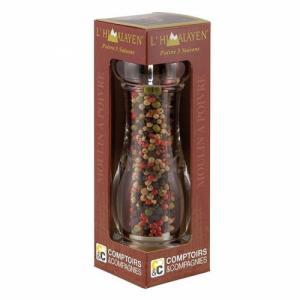 Mélange 5 poivres bio - Moulin manuel 45g