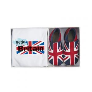 Set chaussons et t-shirt, drapeau Union jack bleu et rouge