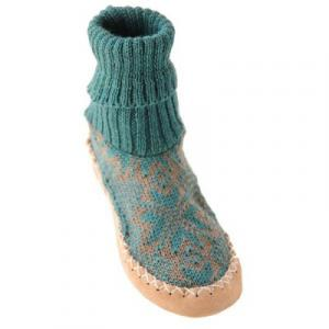Chaussons Norvégiens  turquoise