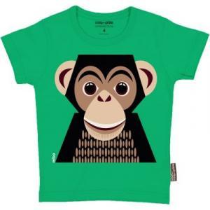 T-shirt coton bio vert Chimpanzé