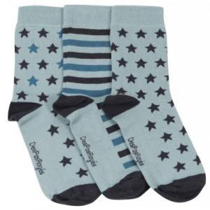 Chaussettes bébé étoiles vert menthe