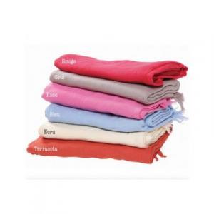 Cheche écharpe coton bio unis de nombreux coloris