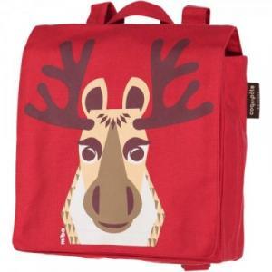 Sac à dos bio rouge pour enfant Caribou
