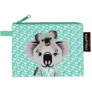 Porte-monnaie vert coton bio koala