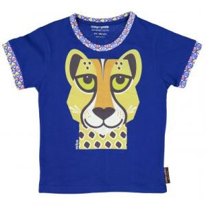 T-shirt coton bio bleu Guépard