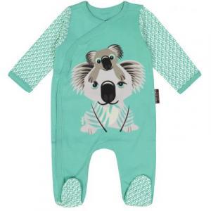 Pyjama en coton bio jade koala
